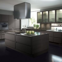 Modular fitted kitchen with island MILANO by Biefbi | design Fred Allison