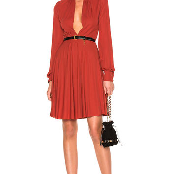 Giambattista Valli Tie-Neck Mini Dress in Paprika | FWRD
