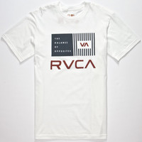 Rvca Balance Bars Mens T-Shirt White  In Sizes