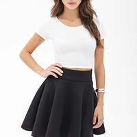 Padded Knit Skater Skirt