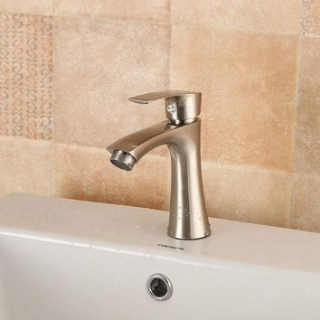 G1/2 New Zinc Alloy Waterfall Bathroom Basin Sink Water Faucet Taps 0.6Pa Single Handle Cold Kitchen Faucet Mixer Tap