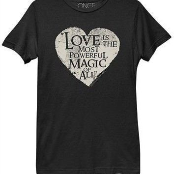 Once Upon A Time Love Most Powerful Magic Womens Misses Relaxed Fit T Shirt
