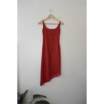Vintage My Michelle Red Crochet Dress