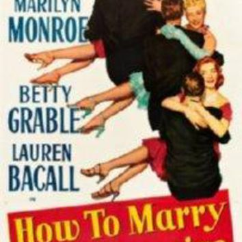 How To Marry A Millionaire Mini movie poster Sign 8in x 12in