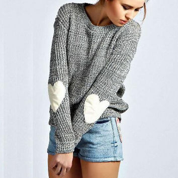 Womens Knitted Sweater Long Sleeve Fashion Knitwear Loose Cardigan Outwear Coat