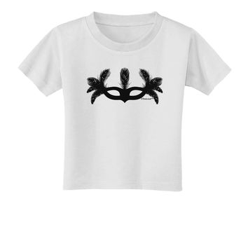 Masquerade Mask Silhouette Toddler T-Shirt by TooLoud