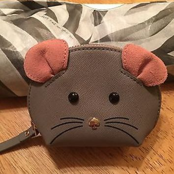 Kate Spade Cat's Meow Mouse Coin Purse NWT