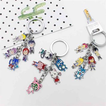 Halder Fairy Tail Keyring Youth Comics Figures Key Chains Etherious Natsu Dragneel Pendants Accessories Gadgets For Key Holder