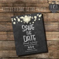 Chalkboard Save the Date magnets,Stinglight Save the Date personalized,Rustic Save the Date magnets,Photo Save The date Magnets,stringlite