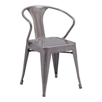 HELIX DINING CHAIR GUNMETAL PACK OF 2