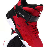 Bleeker Red/Black Leather Sneakers