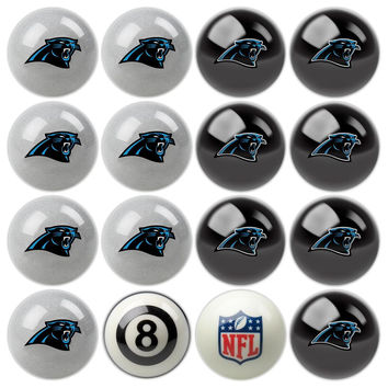 Carolina Panthers NFL 8-Ball Billiard Set