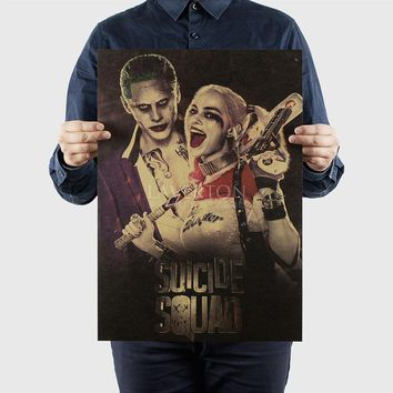 Harley Quinn/Suicide Squad D/ Hollywood actor movie /kraft paper/ Wall stickers / bar Retro Poster/decorative painting 51x35.5cm