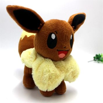 Hot Anime Character Eevee Plush Toys 20cm Kawaii Eevee Genius Soft Stuffed Animals Doll for Kids Toys Children Birthday Gift