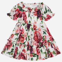 Coordinating Looks for Mother and Daughter | Dolce&Gabbana - PRINTED COTTON DRESS