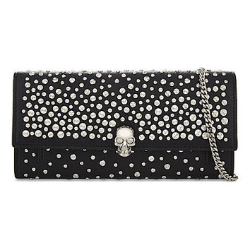 ALEXANDER MCQUEEN Skull and studs leather wallet-on-chain