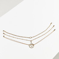 Luv Aj Trinity Chain Choker Necklace Set | Urban Outfitters