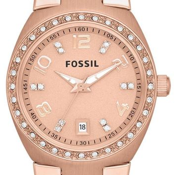 Fossil Serena Crystals Rose Gold-Tone Stainless Steel AM4508 Women's Watch