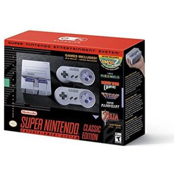 Nintendo SNES Entertainment System: Super NES Classic Mini Console - Walmart.com