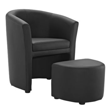 Modway Divulge Arm Chair and Ottoman Set