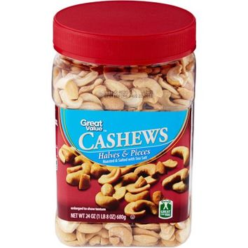 Great Value Cashew Halves & Pieces, 24 oz - Walmart.com