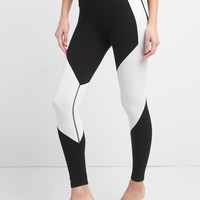 gFast high rise colorblock cotton performance leggings | Gap