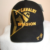 U S Army 1st Cavalry Division on a new Black ball cap