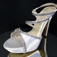 Crystal Bridal Shoes by Kristie Ann Couture - Crystal  Wedding Shoes - Bling Wedding Shoes