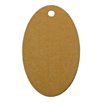 60 Print-On Micro Perforated Oval Hang and Gift Tags