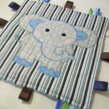 Baby Taggy Blanket ,Sensory toy,Ribbon blanket