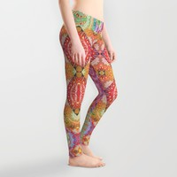 Psychedelic Journey GOA 1 Leggings by Webgrrl | Society6