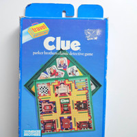 Vintage Clue Travel Board Game 1990
