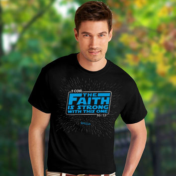 Kerusso Faith is Strong with this One Christian Unisex Bright T Shirt