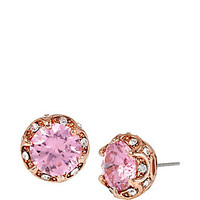 ALL THAT GLITTERS PINK RUFFLED HALO STUD EARRINGS: Betsey Johnson