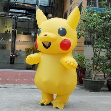 Halloween cosplay costumes for women inflatable pikachu costume adult Child  cosplay costumes Onesuit mascotKawaii Pokemon go  AT_89_9