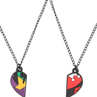DC Comics The Joker & Harley Quinn BFF Necklace Set