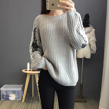 knitted Pullover Casual Sweater