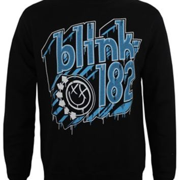 Blink 182 Drip Type Men's Black Sweatshirt - Buy Online at Grindstore.com