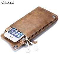 Genuine Leather Wallet Men Coin Purse Mens Wallet Vintage Male Clutch Fashion Men Wallets Card Holder
