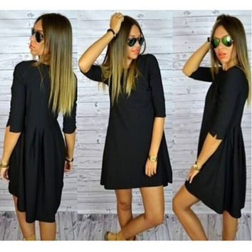 Summer Dress Fashion Loyal Black Noble Dress Women's Casual Dress = 1931839940
