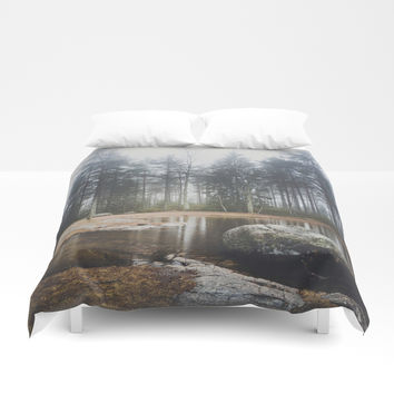 Moody mornings Duvet Cover by happymelvin