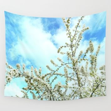 """Welcome! Vintage spring."" Wall Tapestry by Guido Montañés"