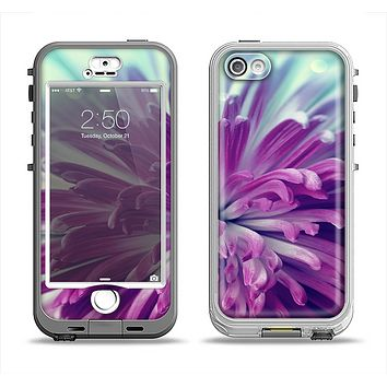 The Vivid Purple Flower Apple iPhone 5-5s LifeProof Nuud Case Skin Set
