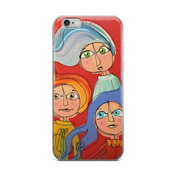 Phone case for iPhone 6/6s/6 Plus/6s Plus - Friends - Red - Gift for Her