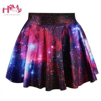 J-fashion Harajuku Starry Universe Gradient Color Skirt Soft Sister Cute Galaxy Skirt Girls Fashion Hot Selling Clothes Female
