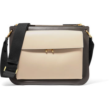 Marni - Pocket Bandoleer leather shoulder bag