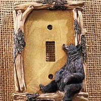 Bear Single Light Switch Wall Plate Lodge Cabin Rustic Country Home Decor