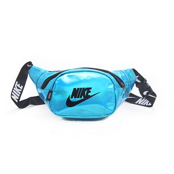 NIKE Popular Personality Purse Waist Bag Sport Single-Shoulder Bag Satchel Lake Blue