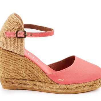 Satuna Canvas Wedges - Coral