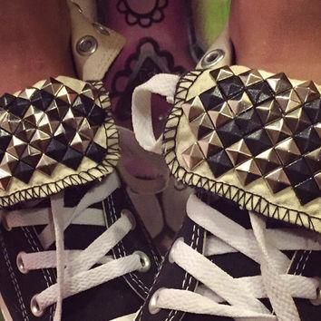 Custom Studded Converse All Star High Tops - Chuck Taylor ALL SIZES & COLORS